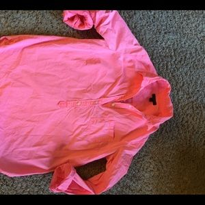 J crew women's blouse coral neon size 8